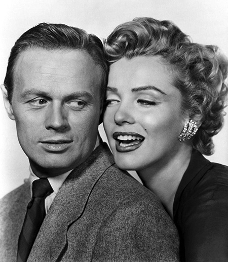 Richard Widmark & Marilyn Monroe