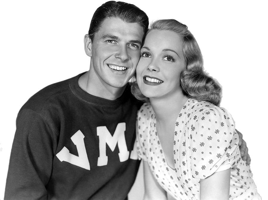 Jane Wyman and Ronald Reagan