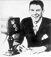 Ronald Reagan and microphone