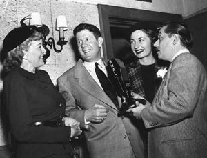 Rudy Vallee, friends and microphone