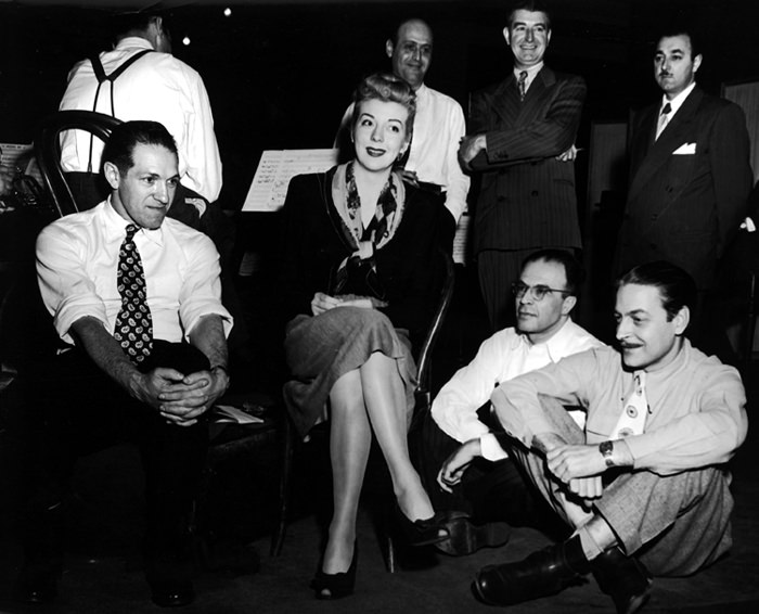 Russ Case as Musical Director on Broadway (far right)
