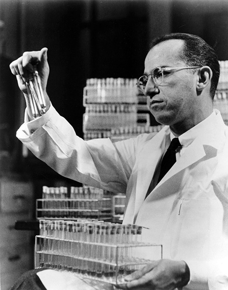 Jonas Salk - invention of polio vaccine