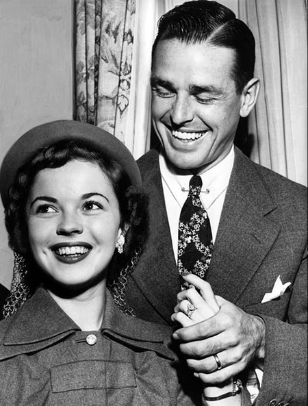 Shirley Temple and Husband Charles Black on the day she announces her retirement