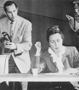 Agnes Moorehead performing the famous script, 'Sorry Wrong Number'