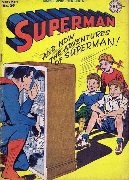 Superman Behind the Radio