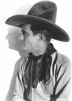 Tom Mix, star of the radio program