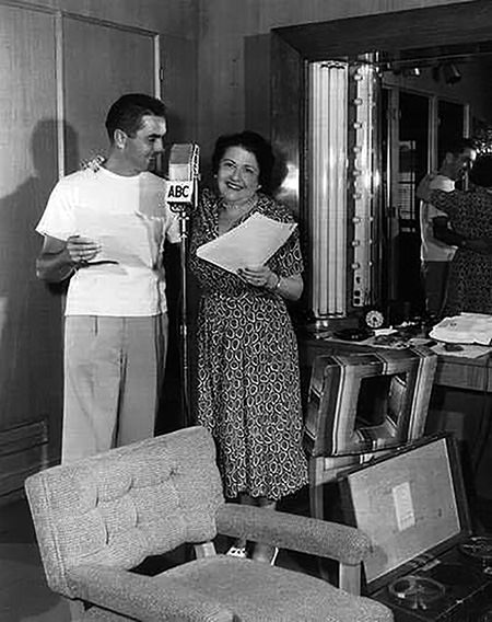 Tyrone Power and Louella Parsons