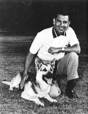 Jack Webb with German Shepherd
