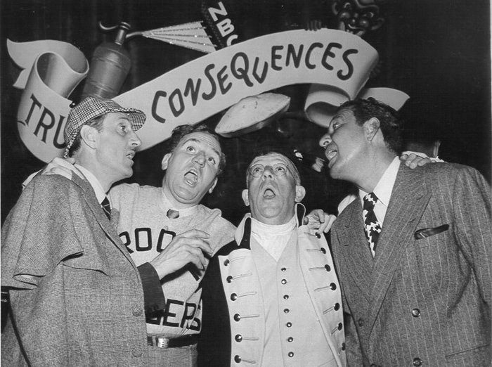 William Bendix & Basil Rathbone on Truth or Consequence Old Time Radio Game Show