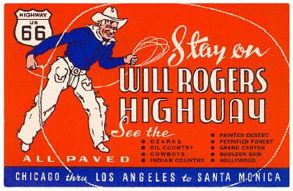 Will Rogers Highway Sign