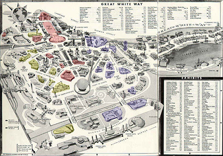 Worlds Fair Map, 1940