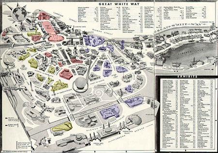 Worlds Fair Map, 1940