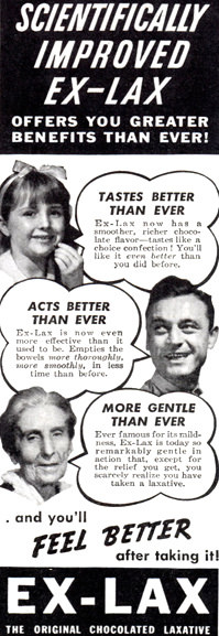 Exlax Advertisement