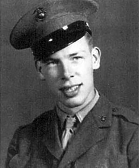 Lee Marvin, young, USMC