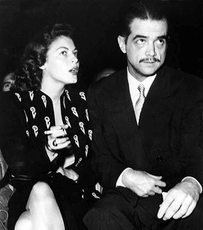 Katherane Hepburn and Howard Hughes