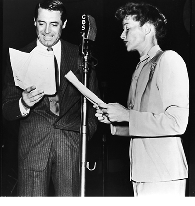 Katherine Hepburn and Cary Grant